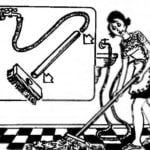 SCRUBBING FLOORS, WITHOUT A BUCKET
