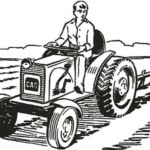 TRACTOR AT THE FARMSTEAD