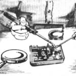 SOLDERING UNDER A MAGNIFYING GLASS