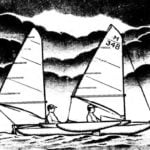 TRIMARAN UNDER THE TWO SAILS
