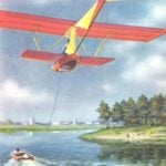 GLIDER TAKES OFF FROM THE WATER