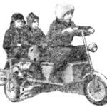 ON ASPHALT WITH A BOAT MOTOR