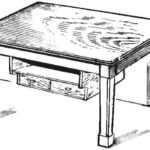 TABLE ON TWO LEGS