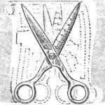 SCISSORS WITH RULER